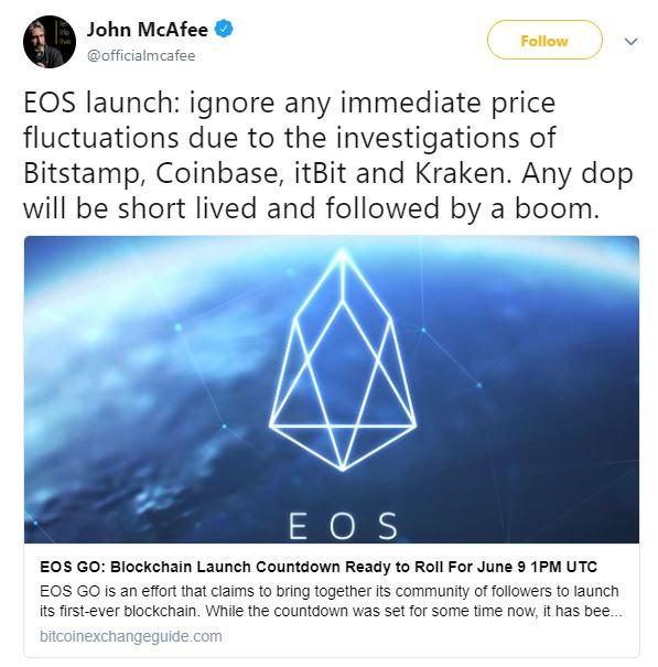 John McAfree: Bitcoin fiyatındaki düşüş hakkında panik yapmayın!