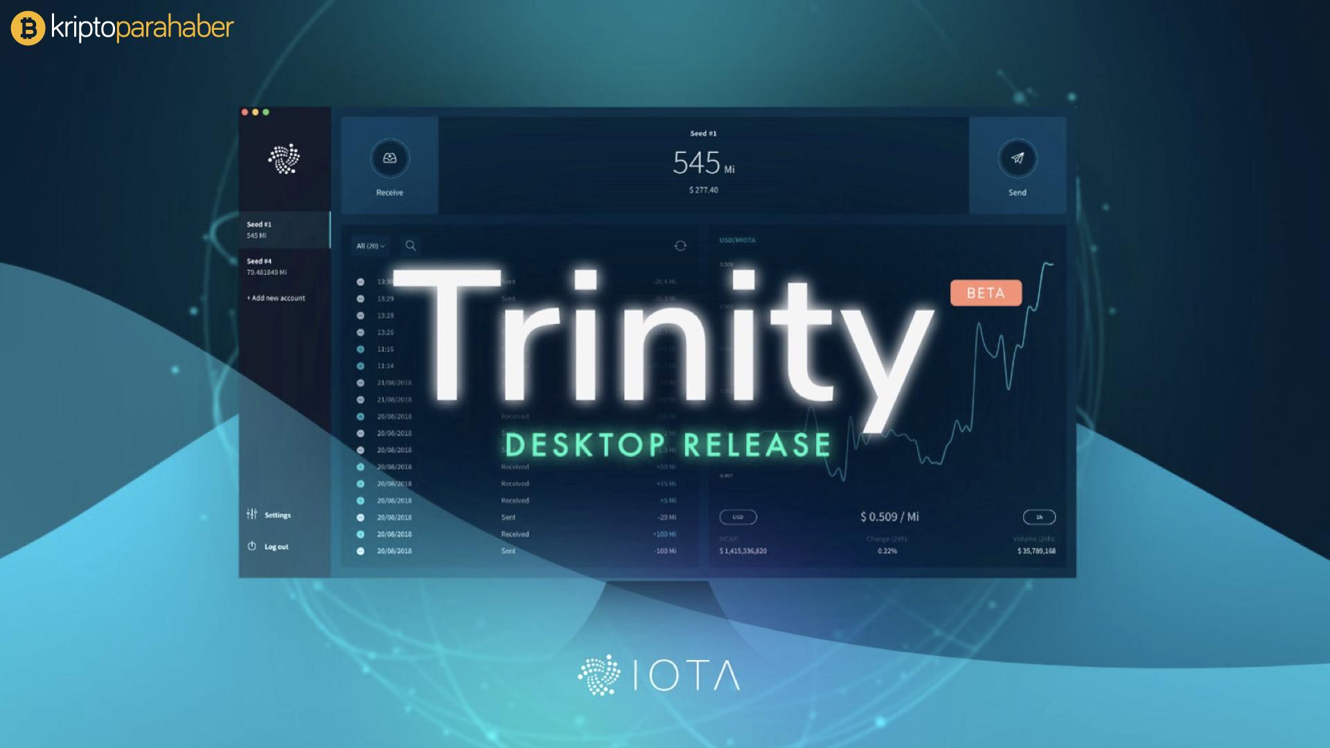 IOTA tarafından başlatılan Trinity artık masaüstünde kullanılabilir.