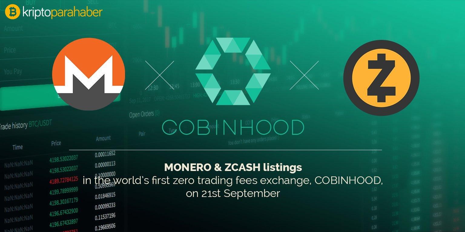Cobinhood gizlilik odaklı kripto paralarla işlem hacmini arttıracak