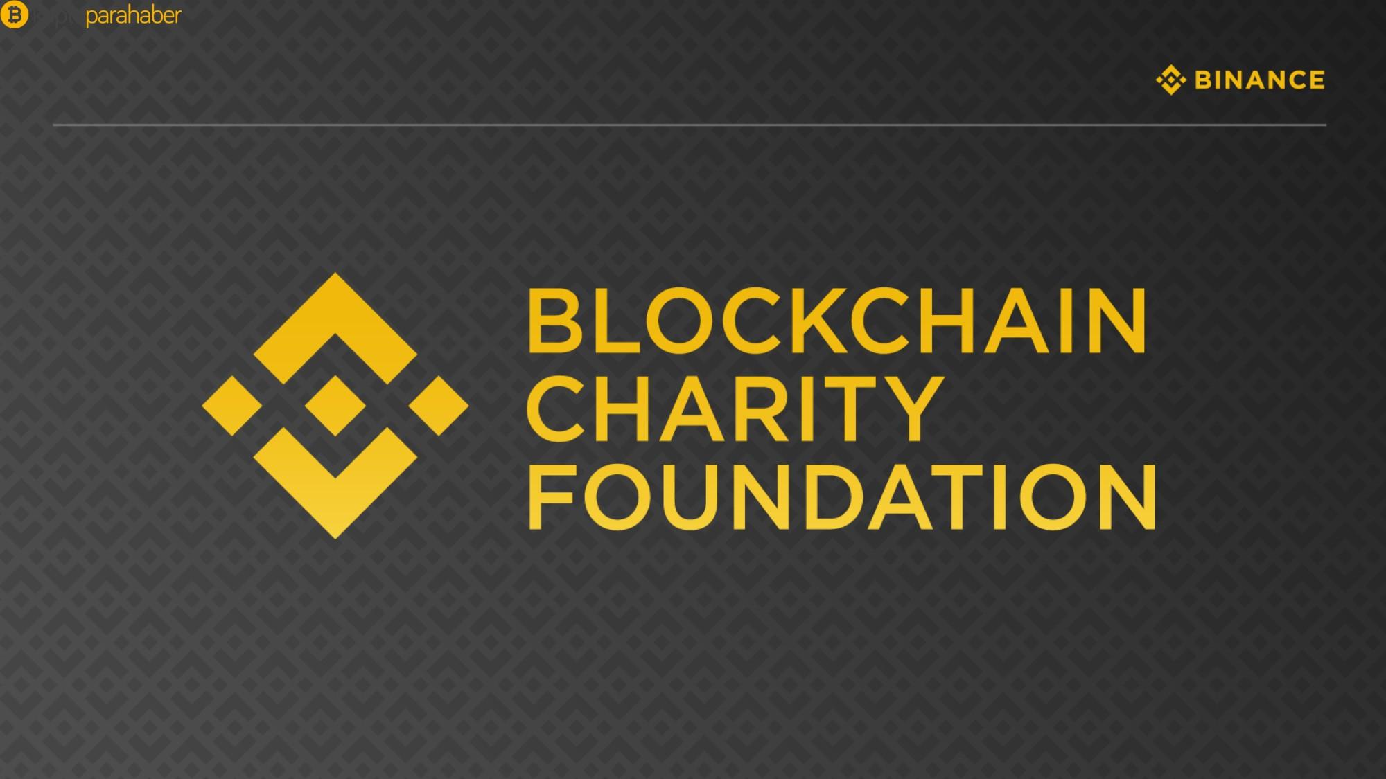 Binance, Blockchain Charity Foundation'ı (BCF) açıklıyor
