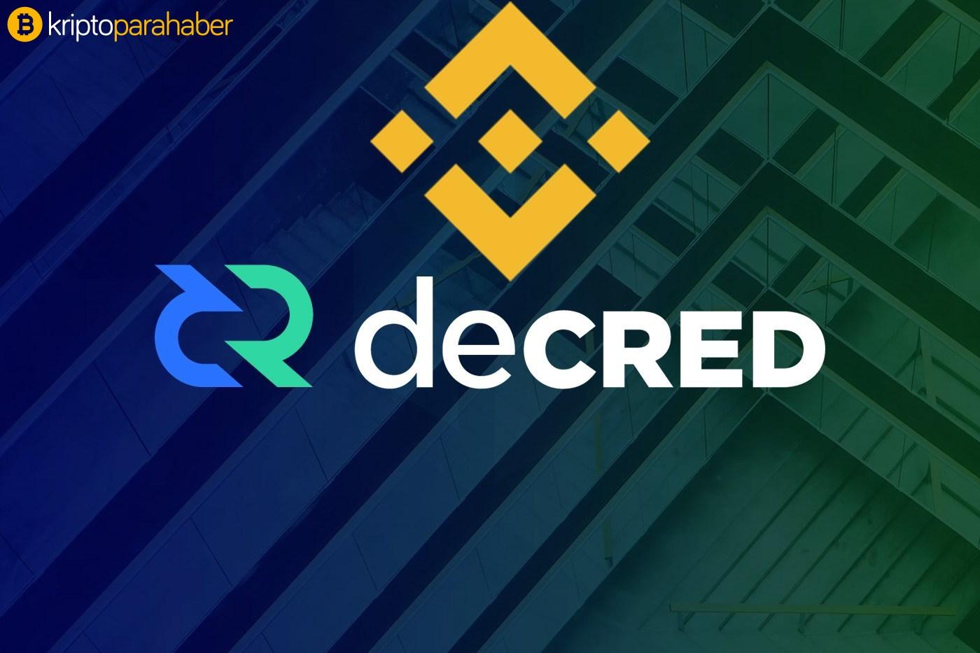 Binance Decred tokenini platformuna ekliyor