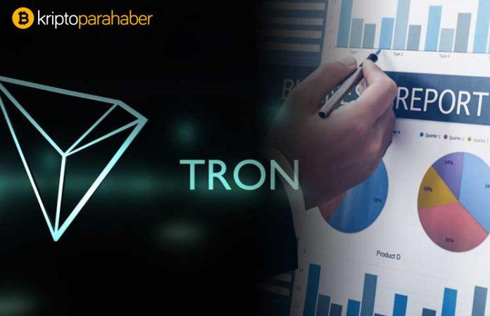 TRON (TRX) haftalık raporunda önemli konuları ele alıyor