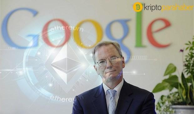 """Eski Google CEO'su Eric Schmidt:""""Blockchain, kripto para birimleri için harika bir platform."""""""