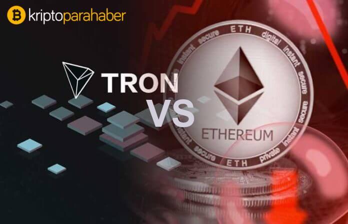 TRON (TRX), Ethereum'un 24 saat içinde kaydedilen işlem sayısının rekorunu kırdı